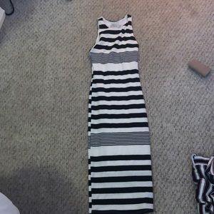 Black bead fit dress